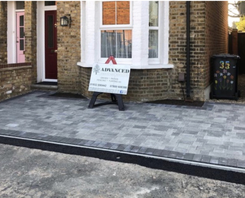 block paving patio Addlestone