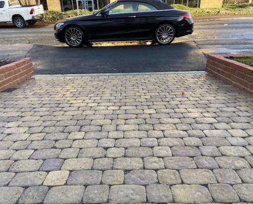 cobble stone driveway West London