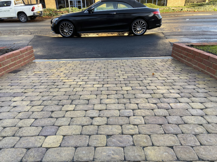 cobble stone driveway West London