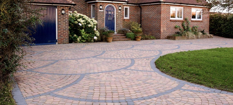 block paving driveway completed